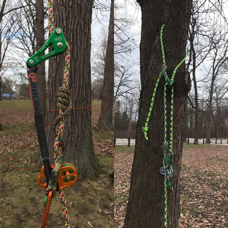 recreational tree climbing gear