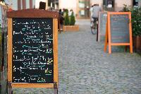 daily special french menu france chalk board