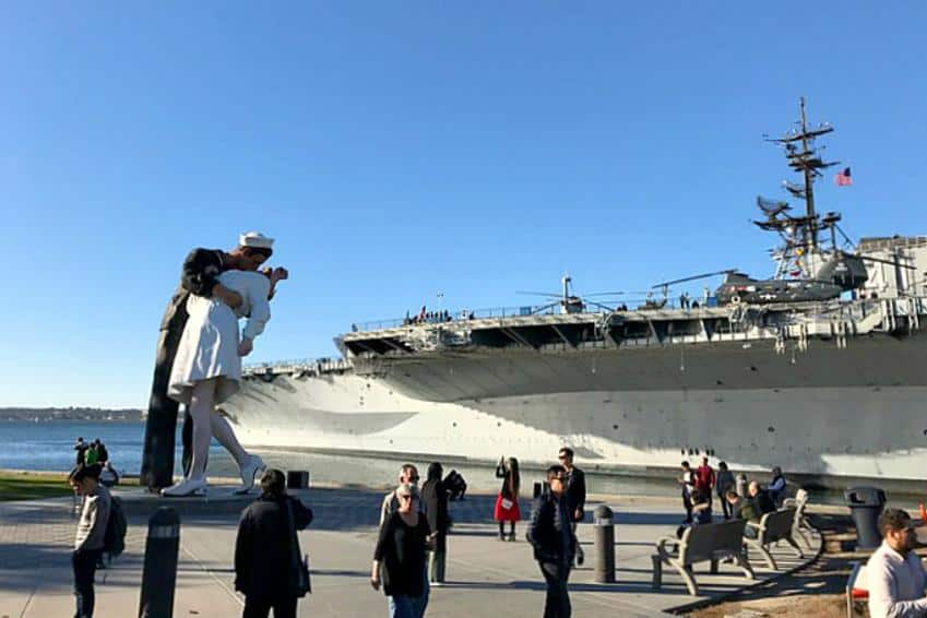 USS Midway and Statue