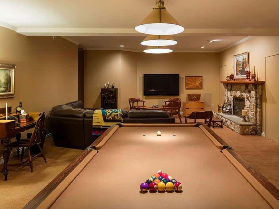 North Vancouver real estate pool table