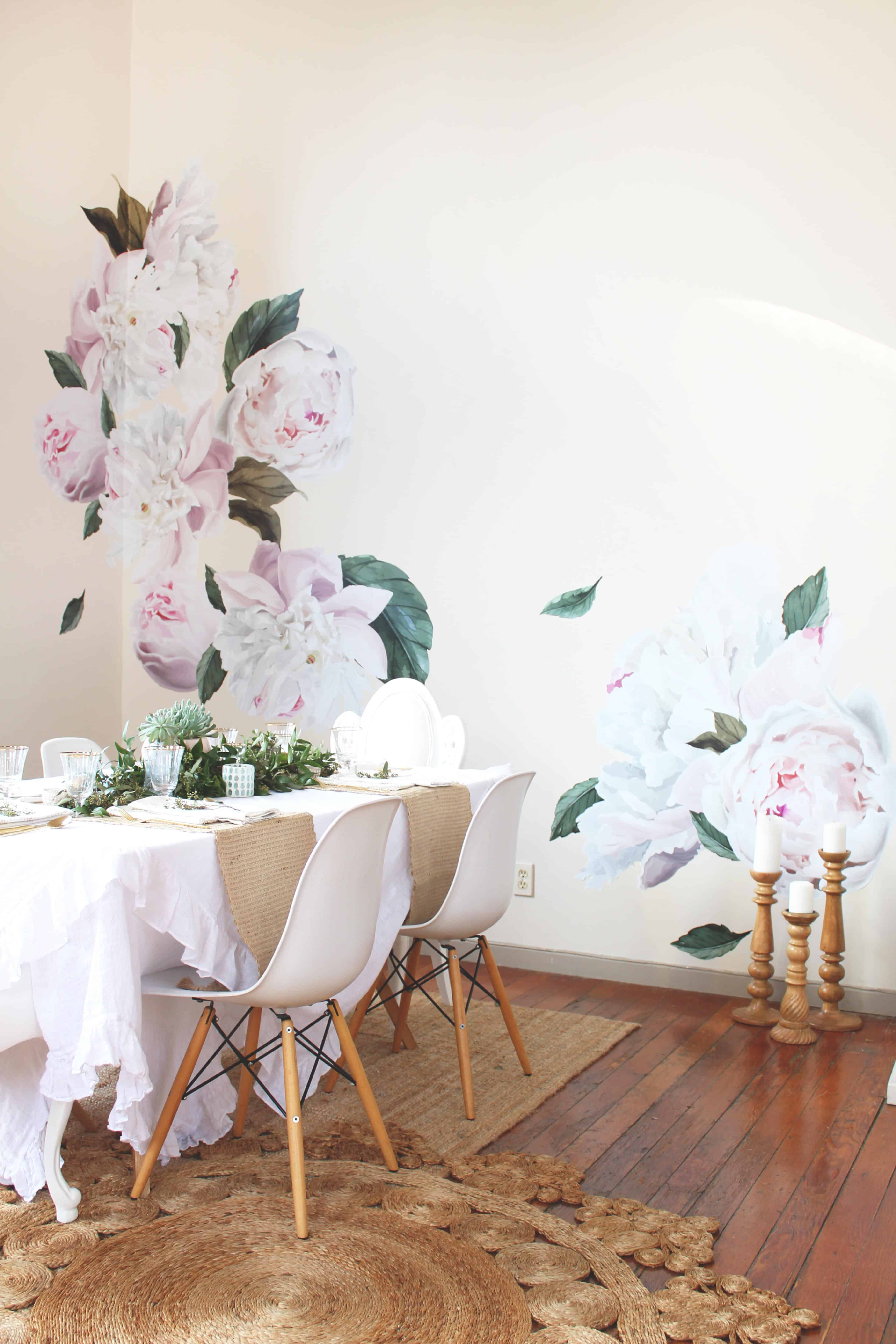 peony decals wall