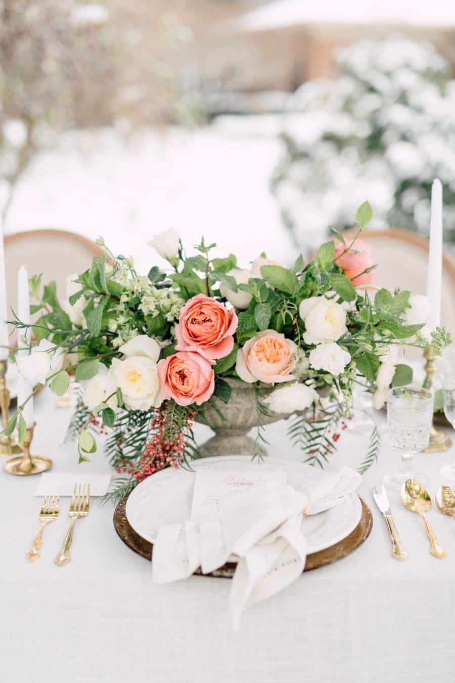 old world charm winter garden inspiration real weddings