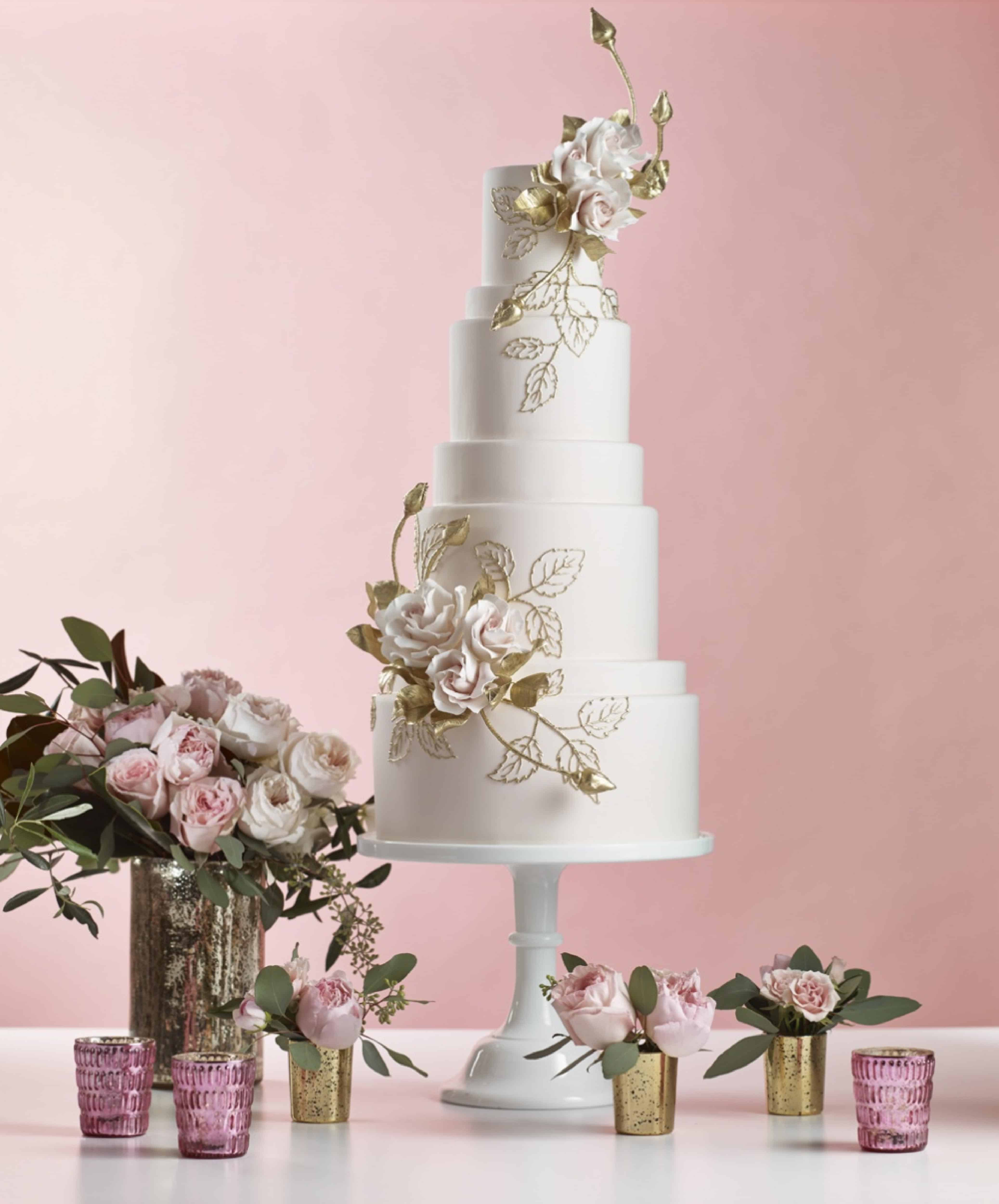 How To: Pair Wedding Cakes and Florals - Real Weddings