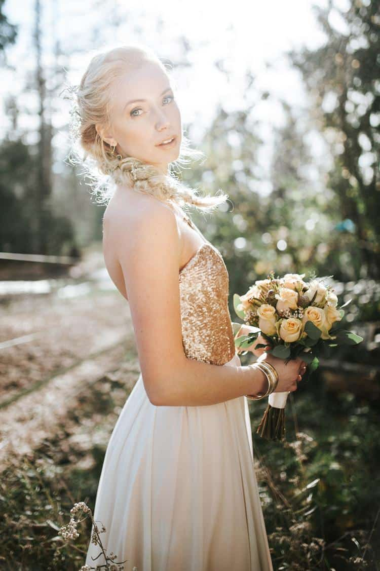 Golden wood nymph, bridal shoot