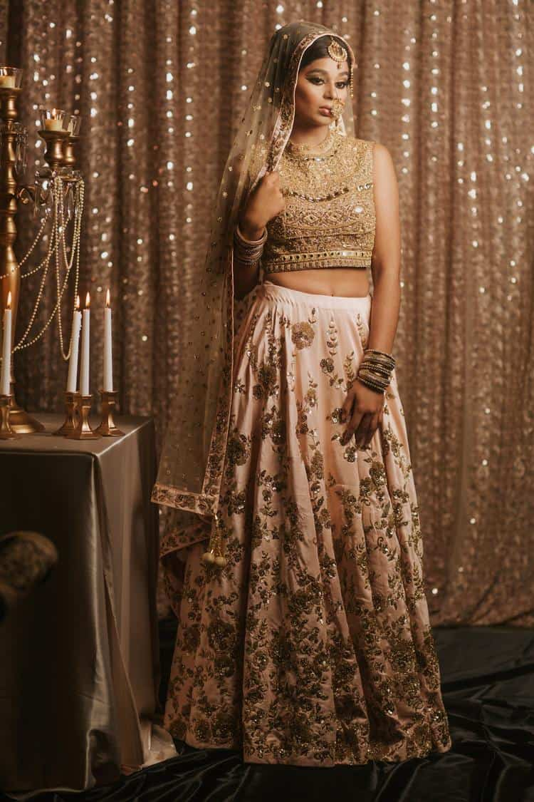 Gold and rose bridal separates