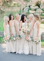 white bridal party, Jenny Yoo, Ines di Santo
