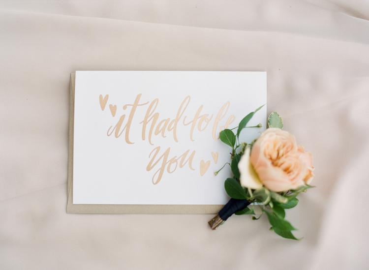 Rose gold wedding stationery