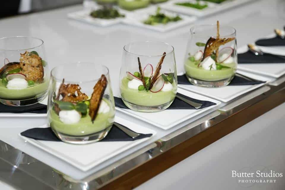 Pea panna cotta by Savoury Chef