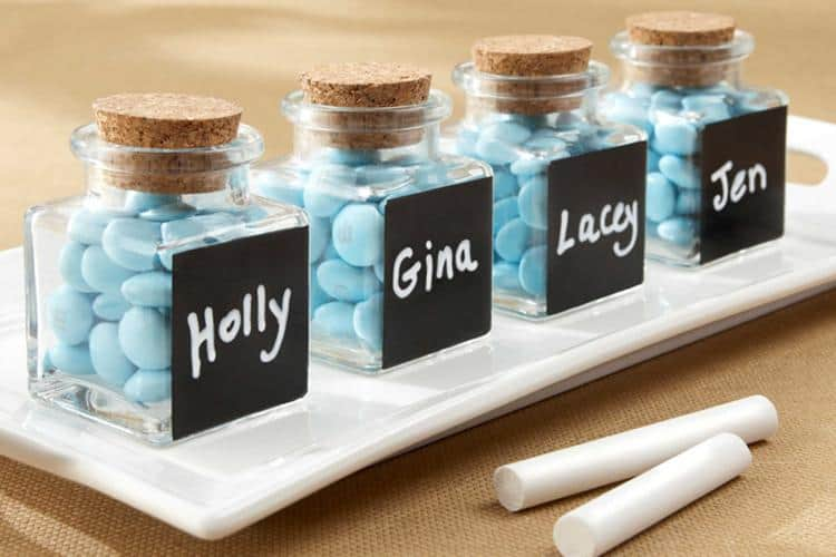 glass jars wedding favours