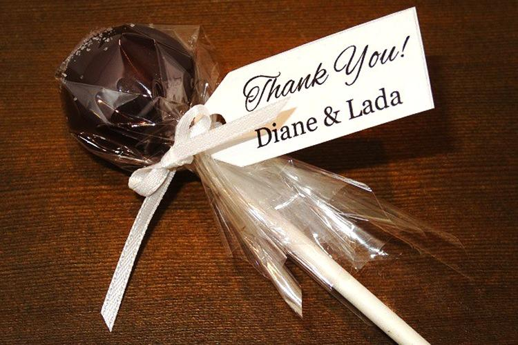 gluten, soy, dairy free cake pop wedding favours