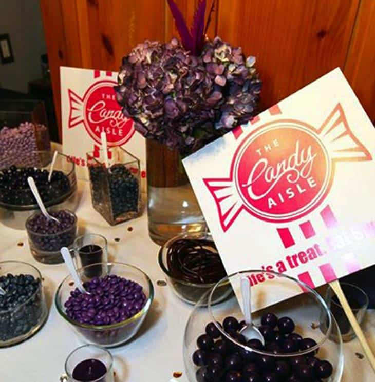 candy bar take home wedding favours