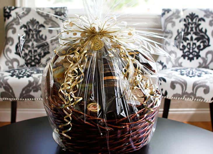 gift basket wedding favour
