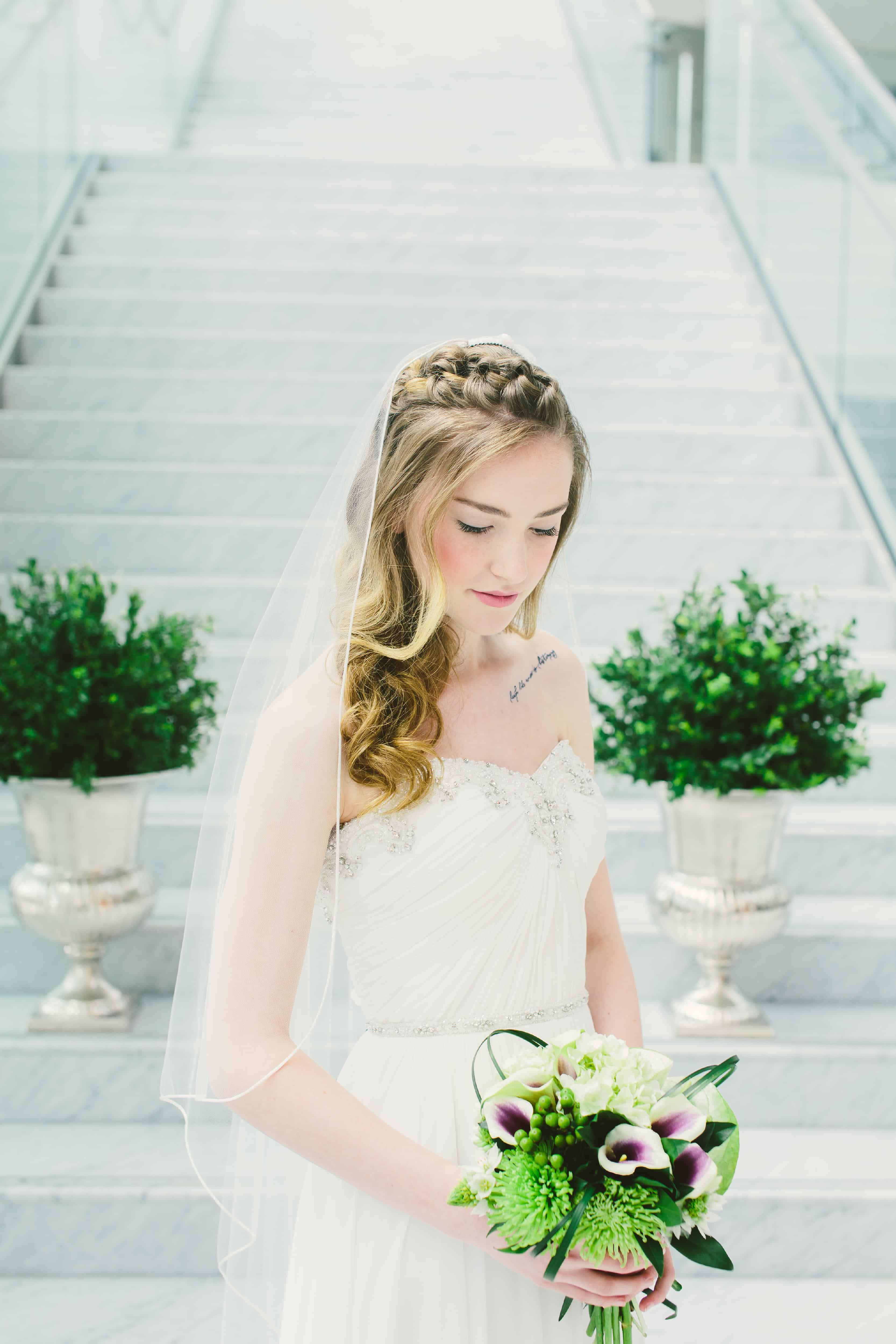 Green wedding bouquet, Bunches & Blooms, New Westminster flowers