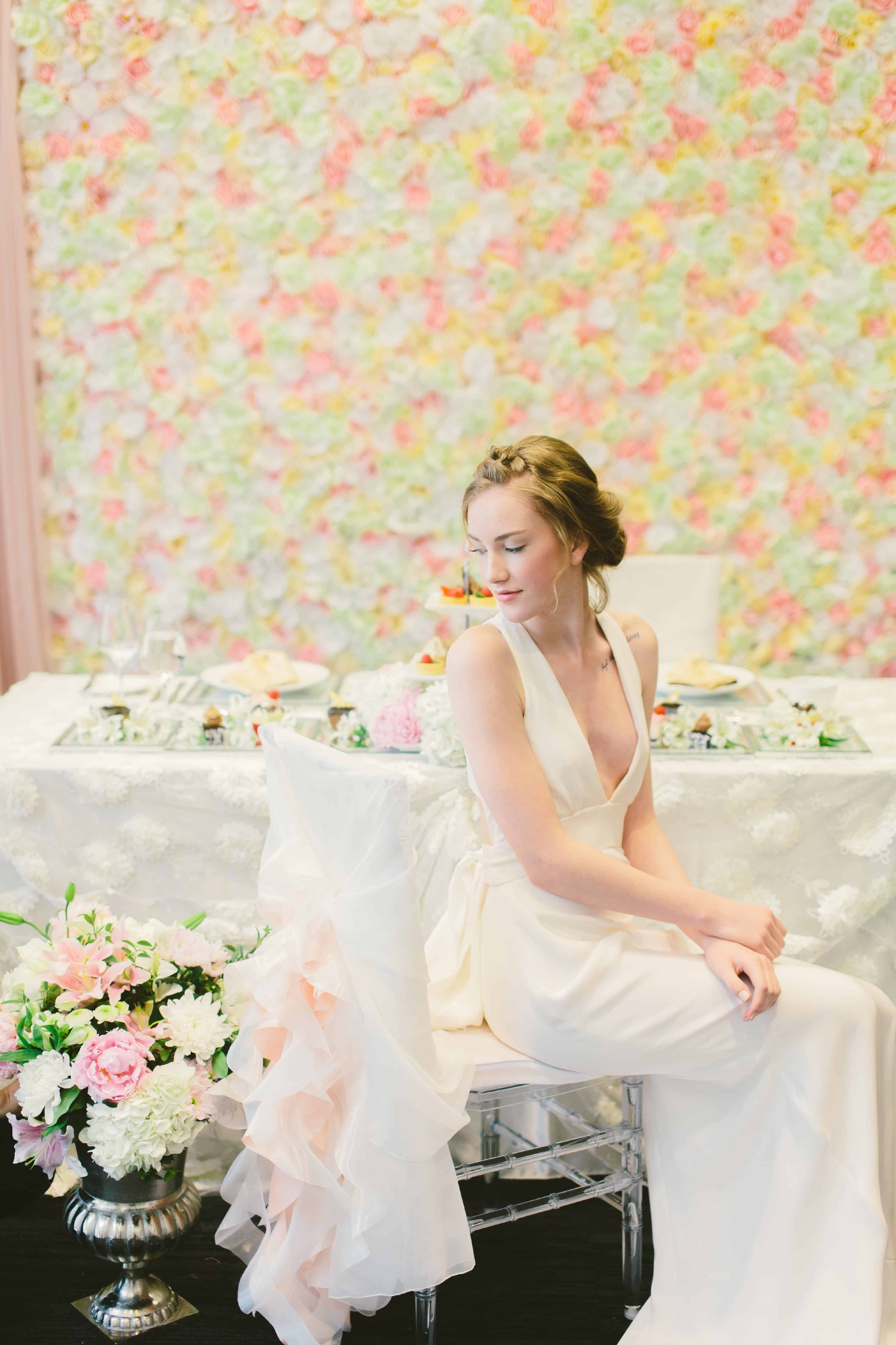 Flower wall, New Westminster florist, Bunches & Blooms, Key Weddings & Events
