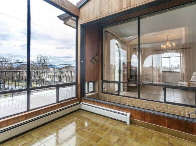 East Vancouver real estate sunroom