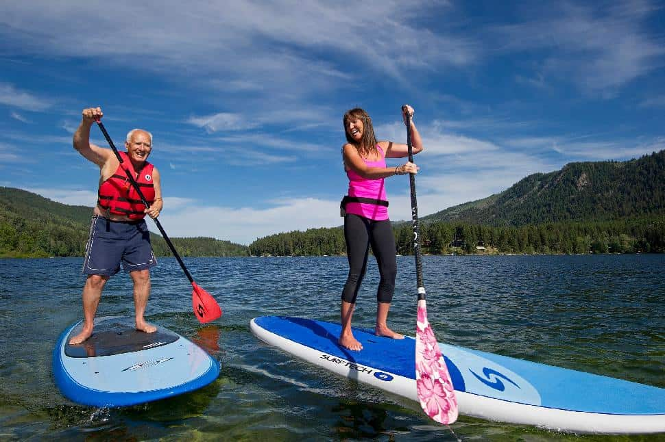 Stand up paddleboarding Walking on water is easier than it sounds
