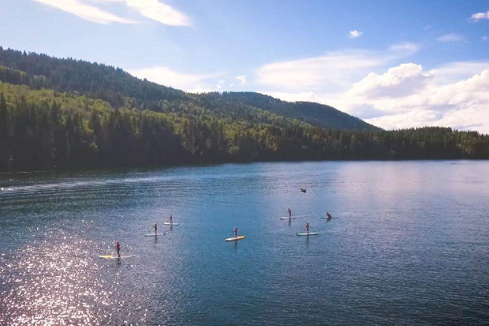 Sun Peaks stand up paddleboarding
