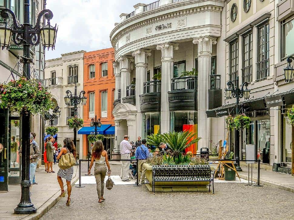 Rodeo Drive luxury shopping Los Angeles