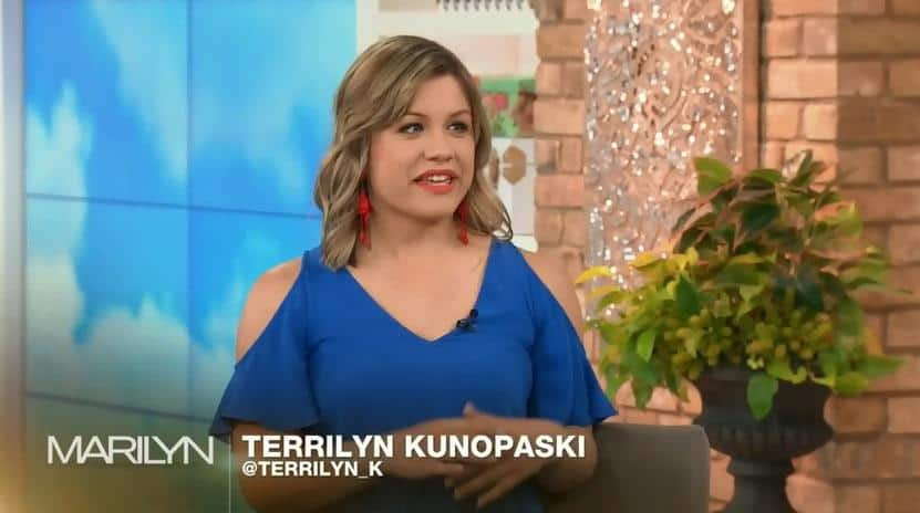 terrilyn kunopaski on the Marilyn Denis show televeision appearance