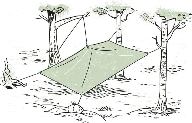 how to set up a tarp