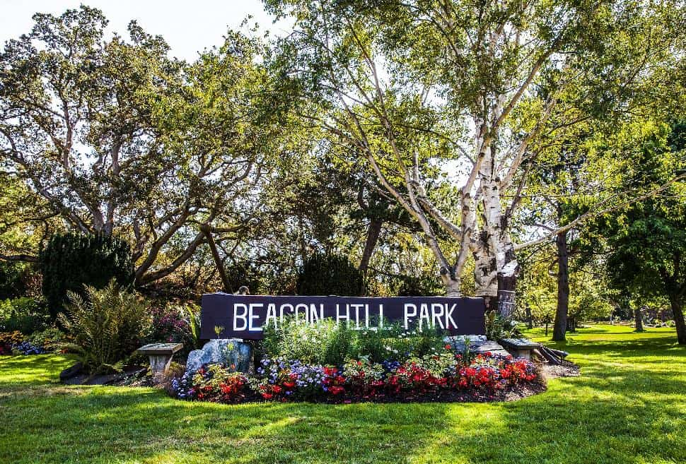 Beacon Hill Park entrance sign