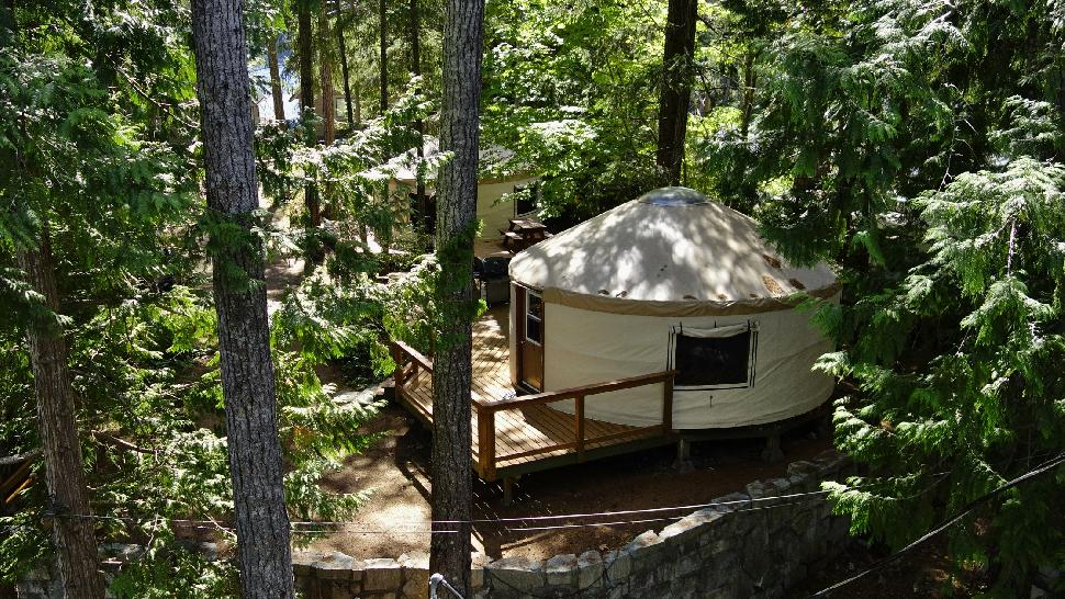 Pender Harbour Resort and Marina yurt