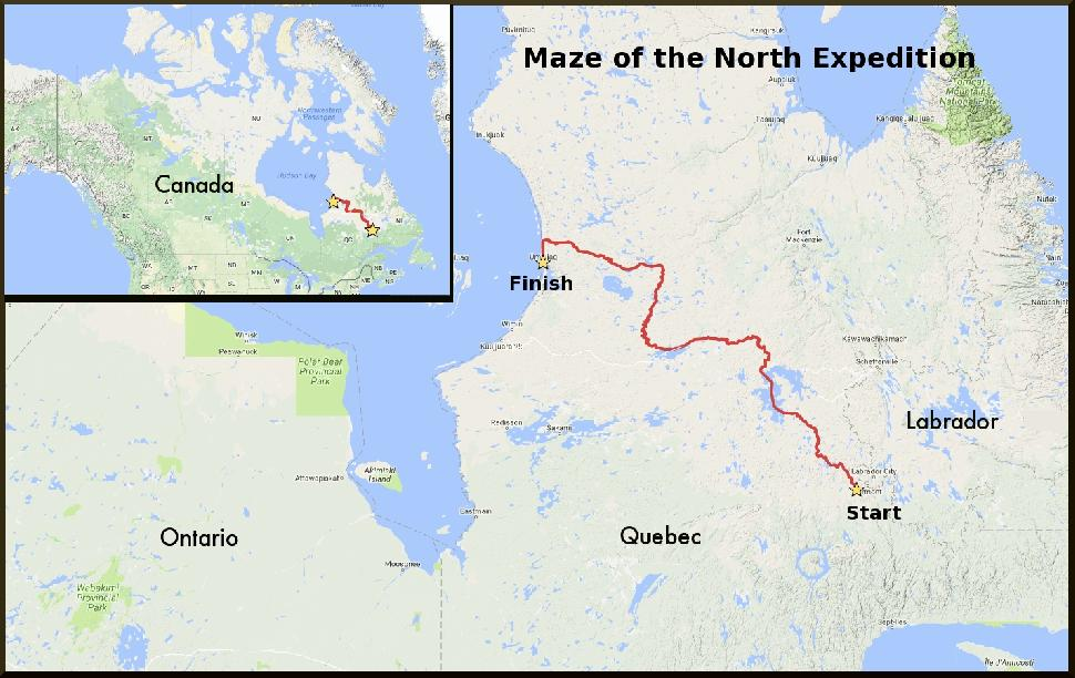 Map: Maze of the North