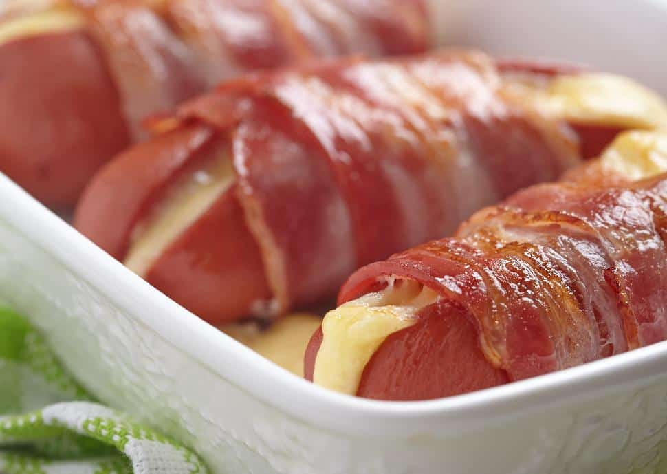 Angie Quaale - Cheese Stuffed Bacon Wrapped Hot-Dogs