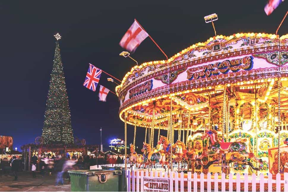 Winter Wonderland Christmas Market at Hyde Park London, United Kingdom