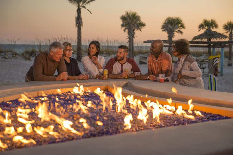 fall pensacola family enjoy happy sunset fire