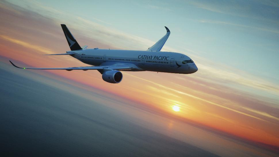 cathay pacific in flight