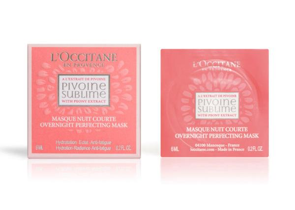 L'Occitane Peony Overnight Perfecting Mask, $7