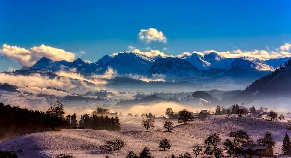 switzerland snow scene
