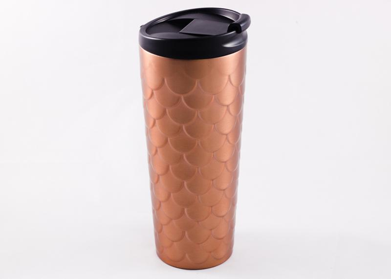 5. Starbucks Rose Gold Scales Stainless Steel Tumbler