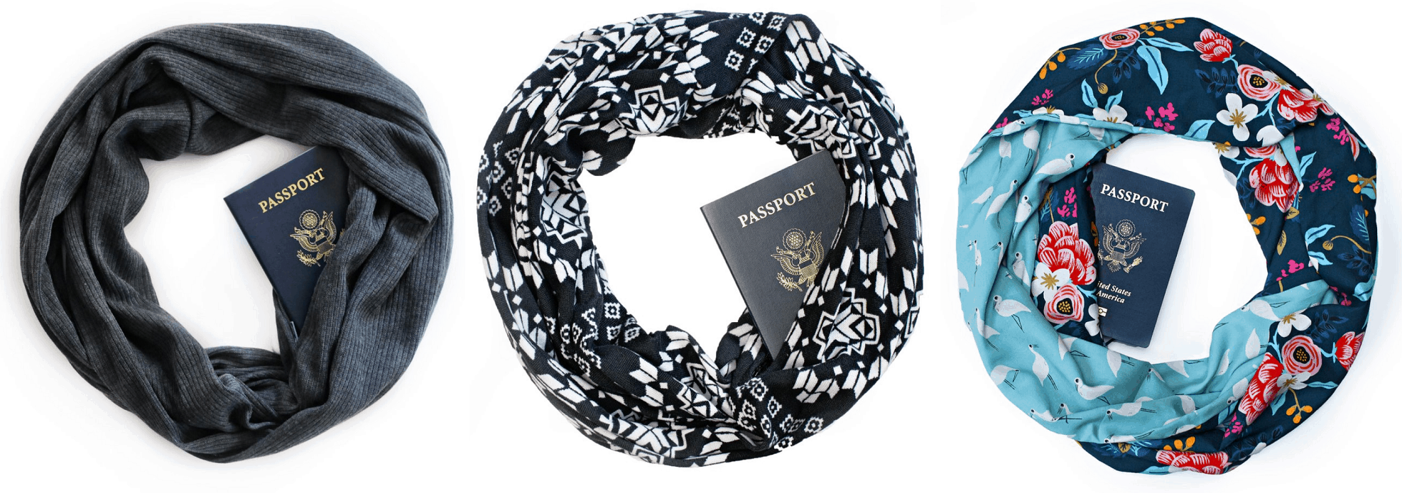 Speakeasy hidden pocket scarves