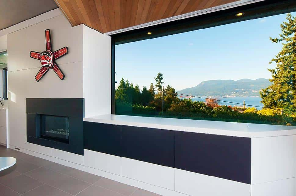 Point Grey fireplace view