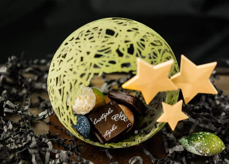 9. Wish Upon A Wreath Chocolate Showpiece by Chez Christophe, $39.95