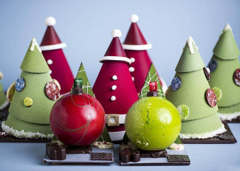 14. Tree and Ornament Chocolate Showpieces by Temper Chocolate & Pastry, from $22