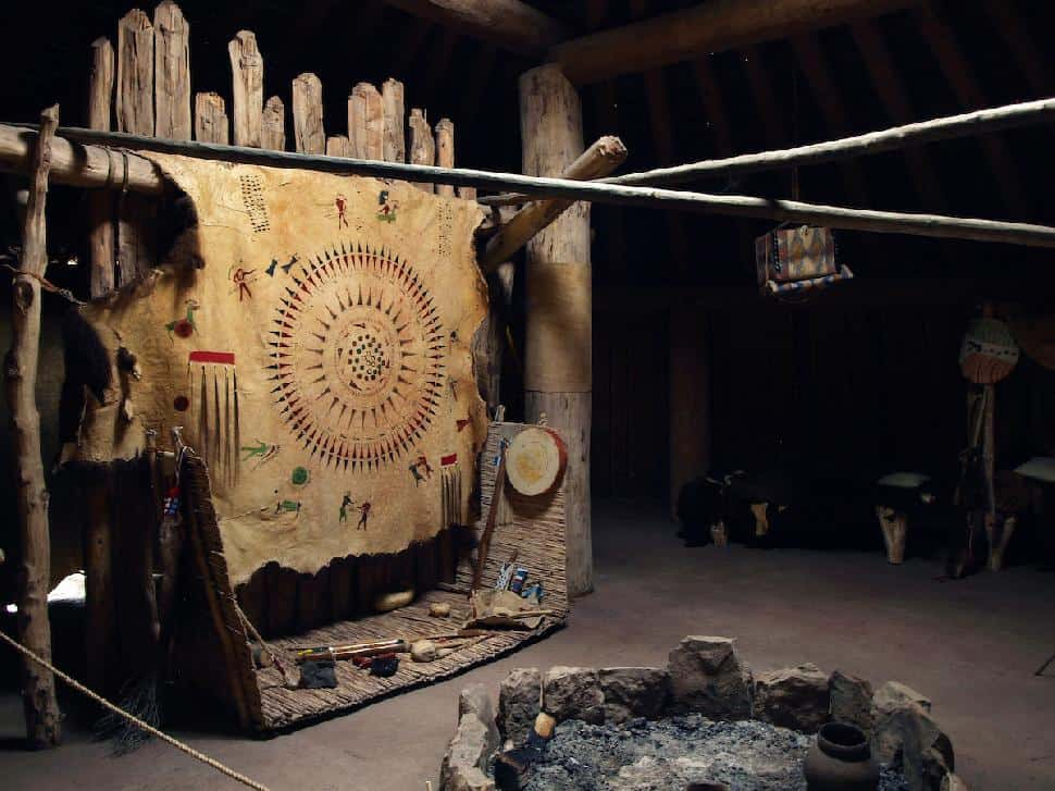 Inside Earthlodge at Knife River Indian Villages National Historic Site