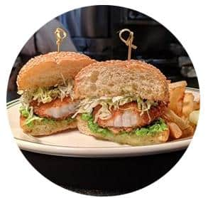 coquille fish burger