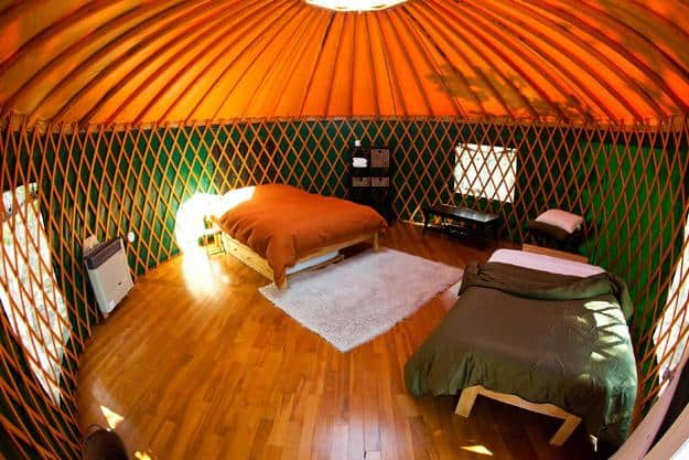 Bedroom yurt