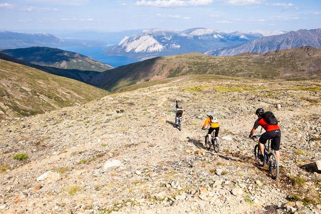 Descent on Mountain Hero trail, Carcross