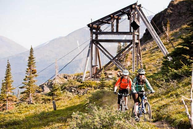 A historic mining pylon on Mountain Hero trail, Carcross