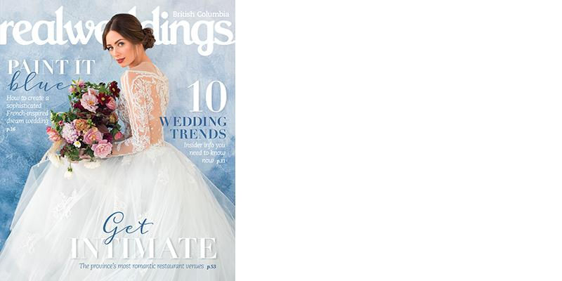 REAL WEDDINGS MAGAZINE Winter/Spring 2018 Issue, $6
