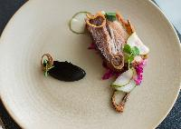 Pork Belly with Tasty Paste and Pickled Red Cabbage