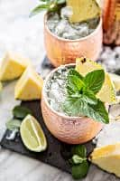 Fresh Pineapple Mint Moscow Mules