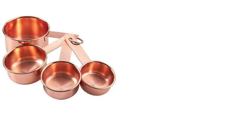 BLUSH PEONY Rose Gold Measuring Cups, $20