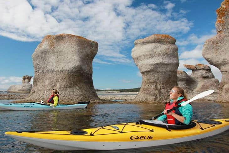 Sea kayaking in Quebec
