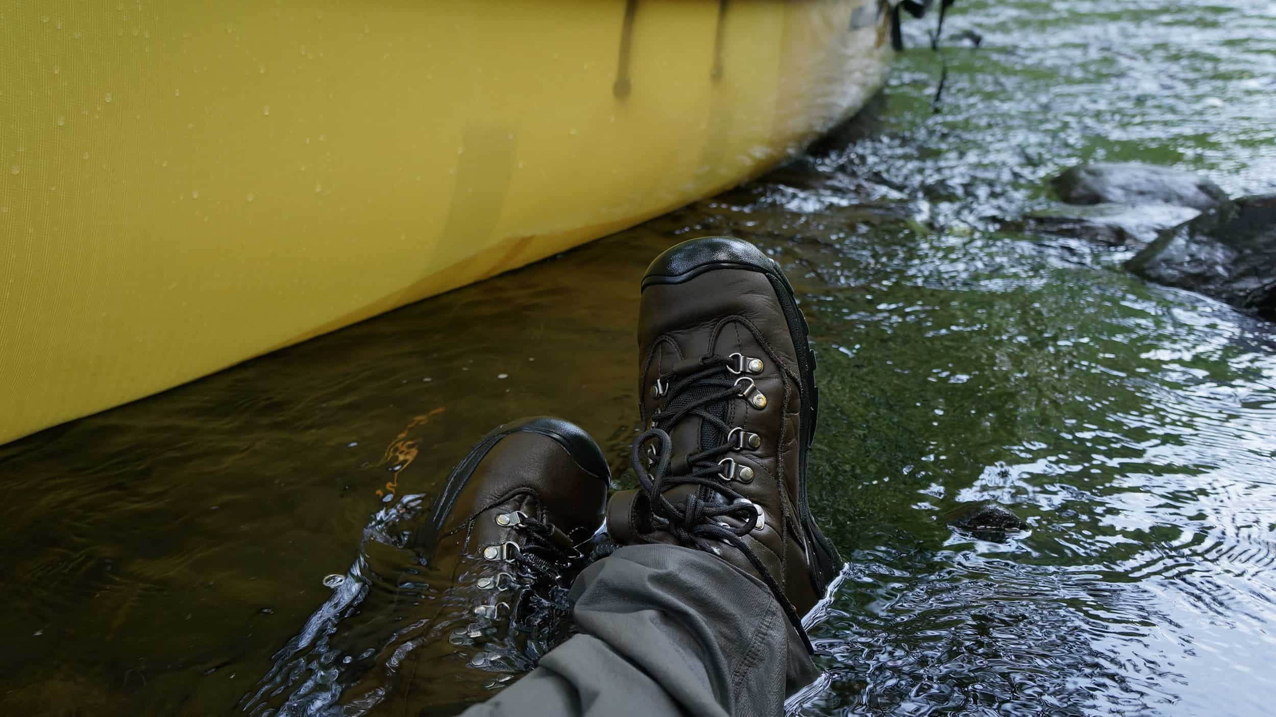 The Happy Camper: Hiking Boots while Paddling