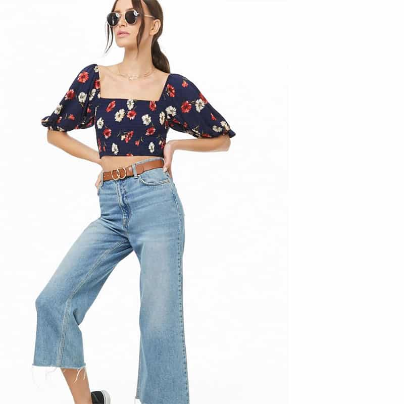 Floral Print Crop Top - Forever 21, $16.99